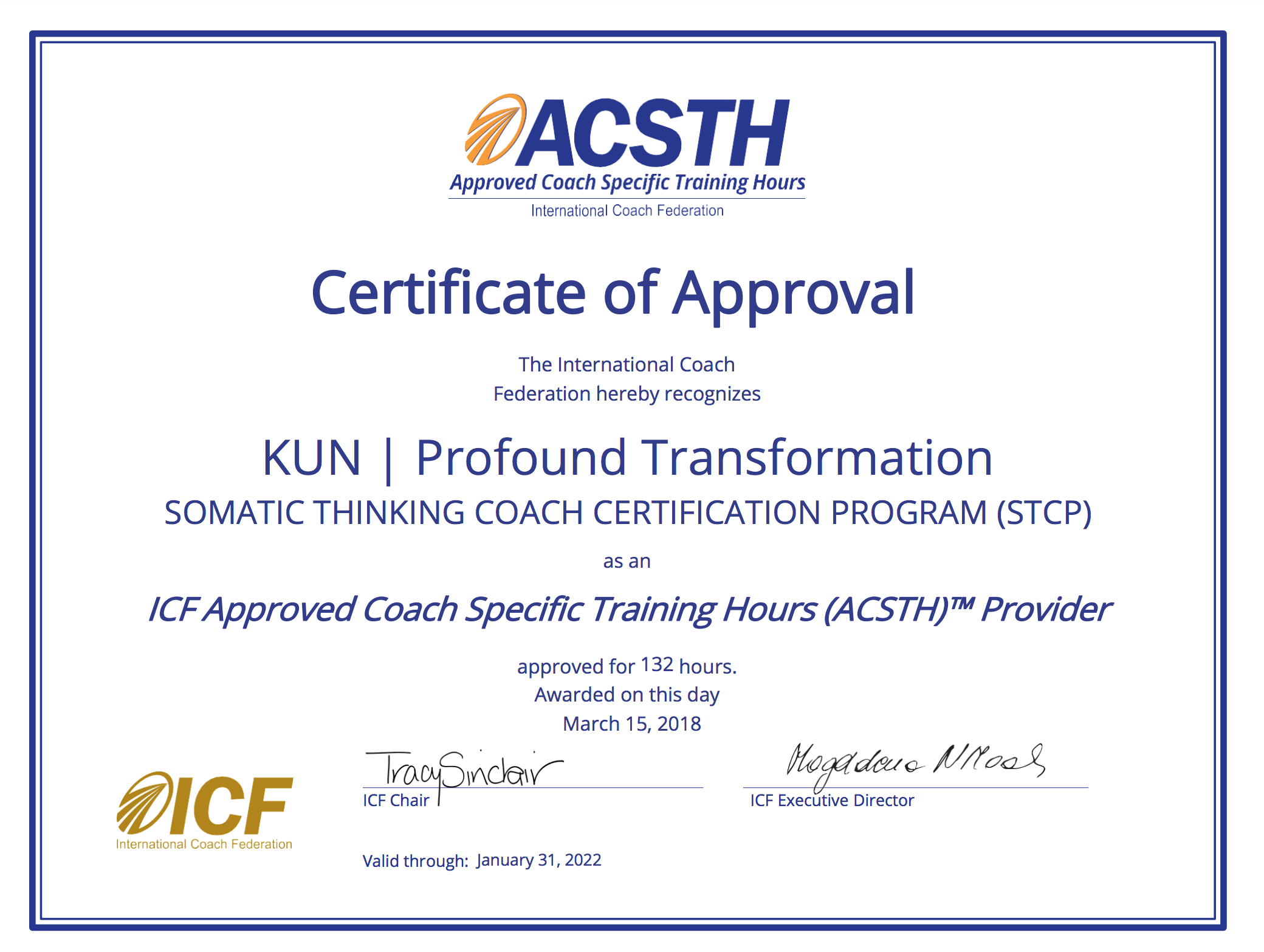 Coach Certification Program Stcp Kun